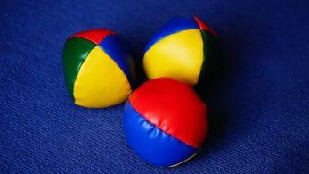 Three juggling balls.