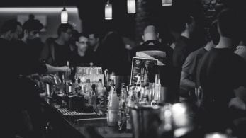 Picture of a bar in black & white