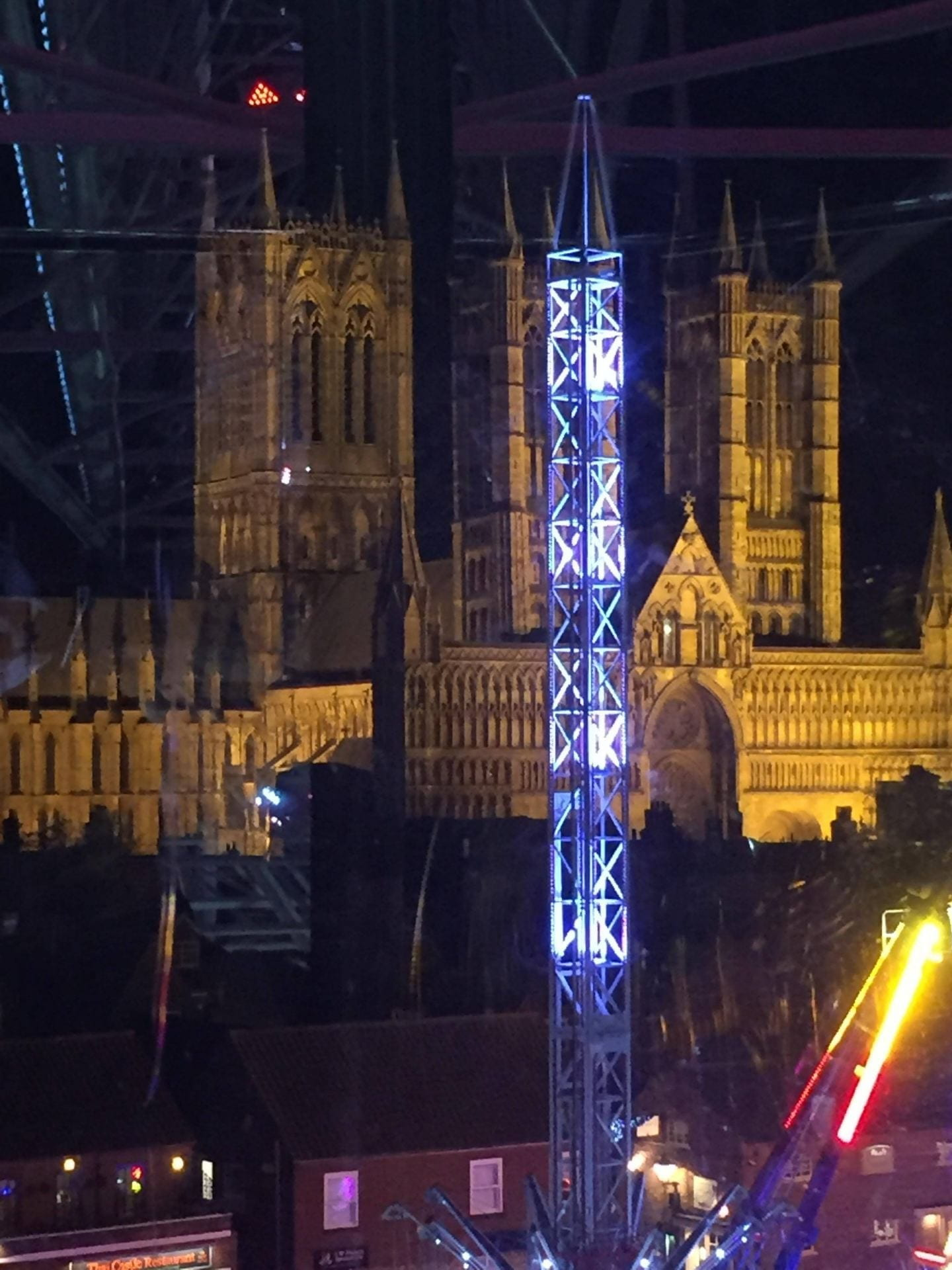 View of Lincoln Cathedral from the Ferris wheel.