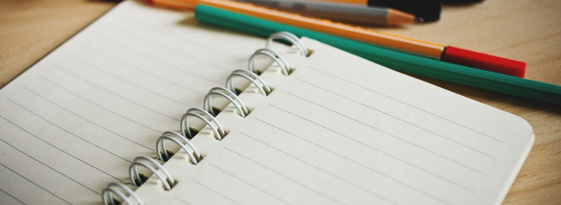 Open note pad and stationary
