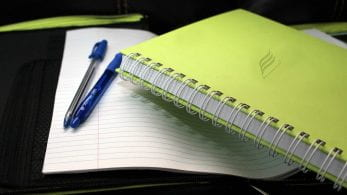 Note books and stationary.