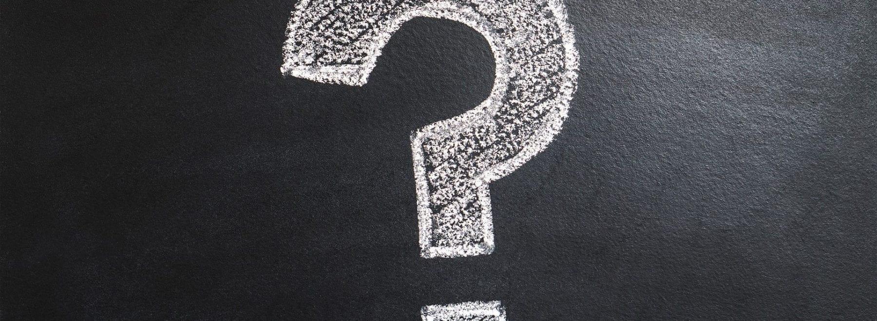 question mark on a chalk board