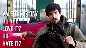 Thumbnail of boy looking confused, saying 'Valentine's Day do you love it?z or hate it?'