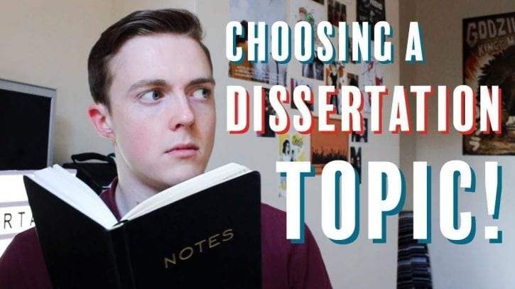 Preview image for the article Choosing a dissertation topic.