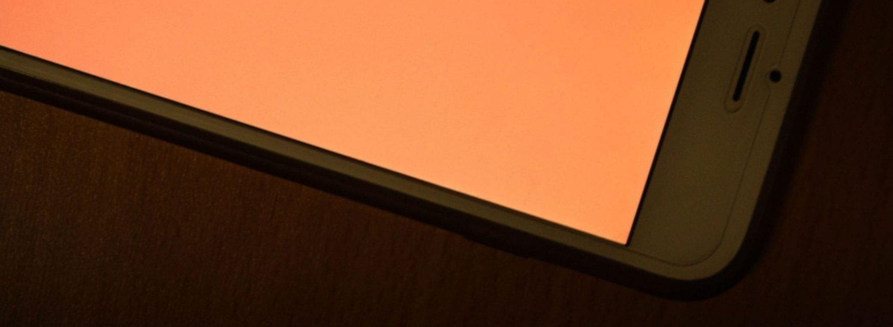 iPhone with an orange screen