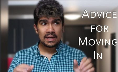 Thumbnail of a man looking confused, saying 'advice for moving in'