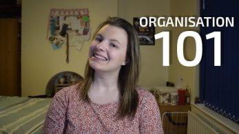 Thumbnail of a girl smiling, saying 'Organisation 101'