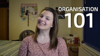 Thumbnail of a girl smiling, saying 'Organisation 101'
