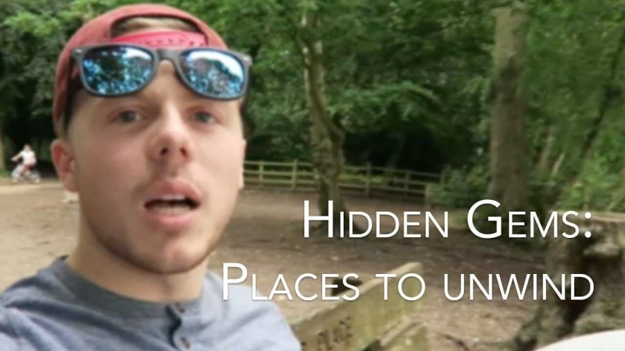 Thumbnail of a man in a muddy field, saying 'hidden gems: places to unwind'