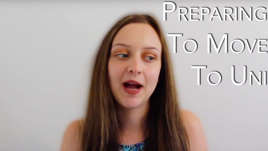 Thumbnail of a girl looking confused, saying 'preparing to move to uni'