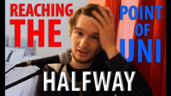 Thumbnail of a boy looking confused, saying 'reaching the halfway point of uni'