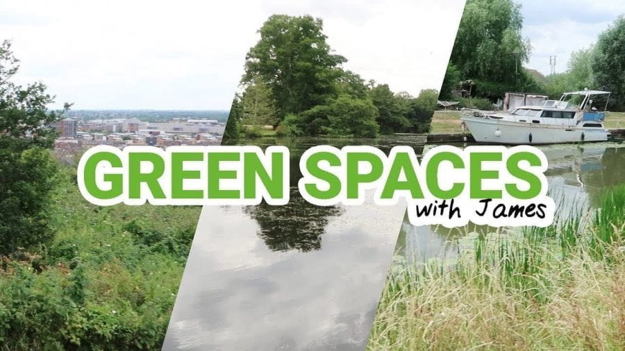 Thumbnail of three green spaces across Lincoln, saying 'Green Spaces with James'
