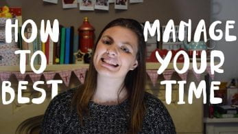 Thumbnail of a girl smiling in a bedroom, saying 'how to best manage your time'