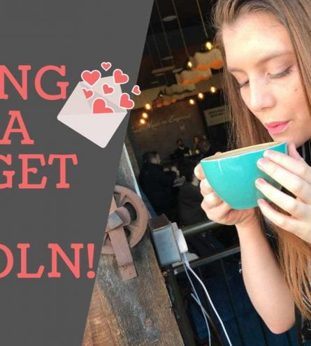 Thumbnail of a girl blowing on a coffee, saying 'dating on a budget in Lincoln'
