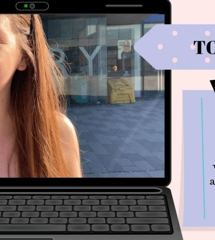 thumbnail of woman smiling titles 'top tips for essay writing where can you find academic resources?'