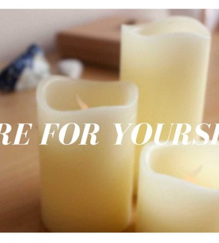 thumbnail of candles titles 'care for yourself'
