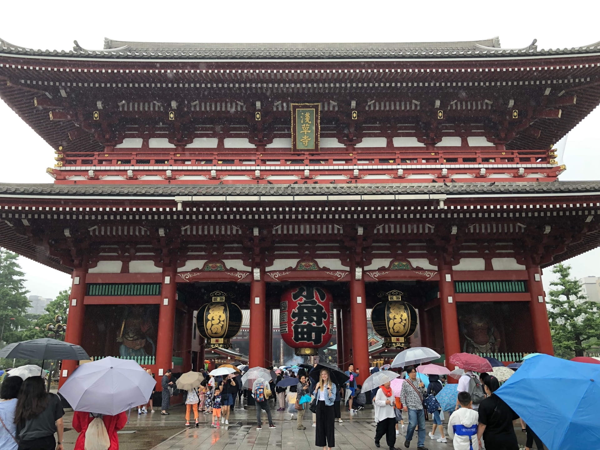 Busy square outside Senso-Ji Temple in Tokyo.