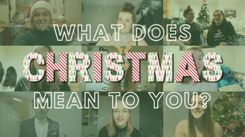 mutilple thumbnails of men and women saying 'what does christmas mean to you?'