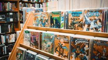 comics on a book shelf in a store