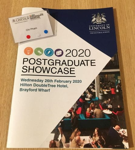 leaflet of postgraduate showcase