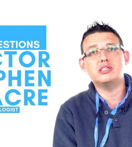 Thumbnail of a man. It reads: 20 questions with doctor stephen linacre