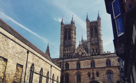 Lincoln Cathedral from Castle Square.