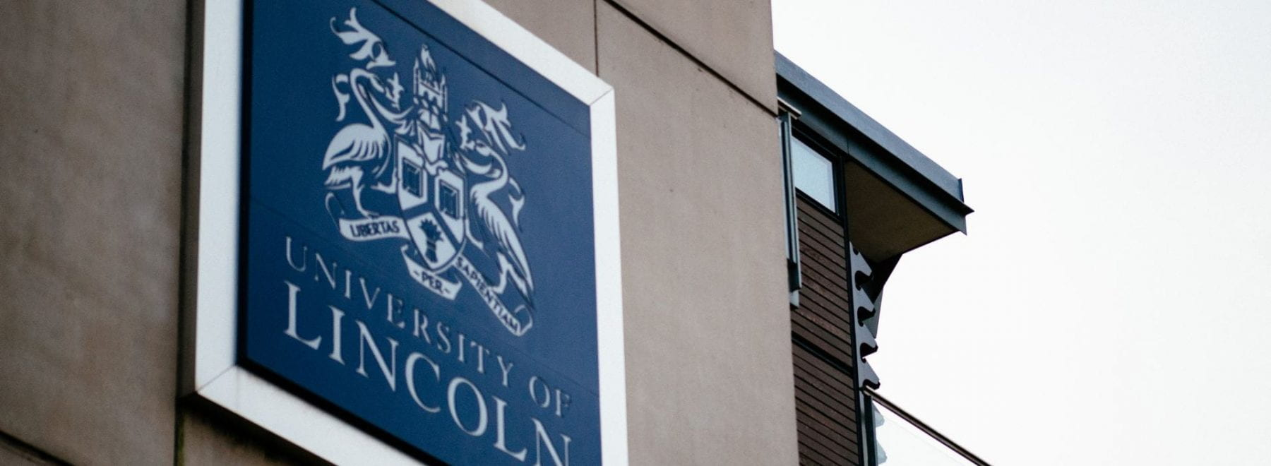 University of Lincoln Sign - Minerva Building