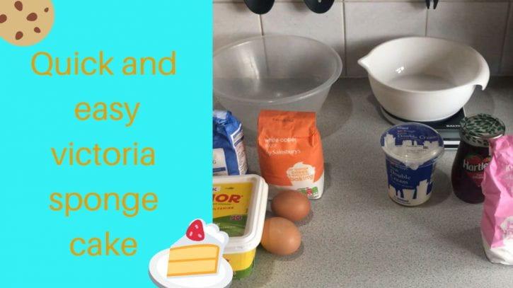 Preview image for the article Victoria sponge cake recipe.