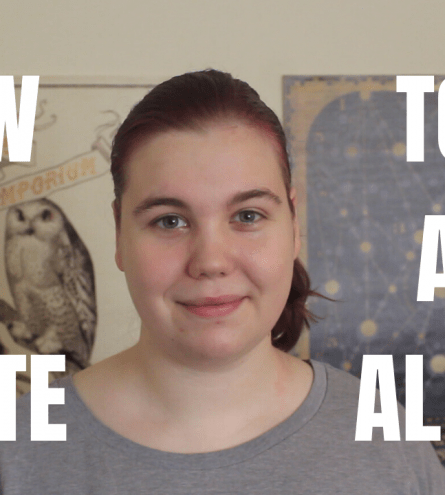 thumbnail. reads 'how to be a white ally' with woman smiling at camera