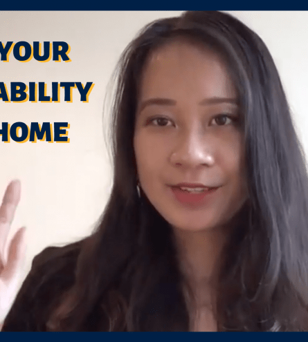 Thumbnail. Reads 'boost your employability from home' with woman smiling at camera