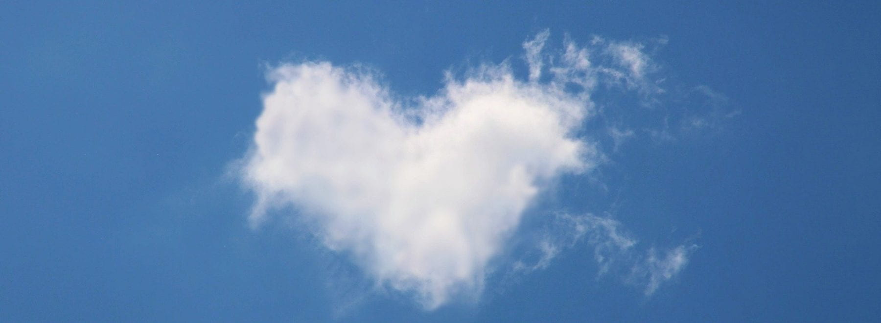 cloud shaped like a heart