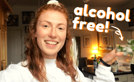 Thumbnail. Reads 'alcohol free!' pointing to a drink held in a girl's hand