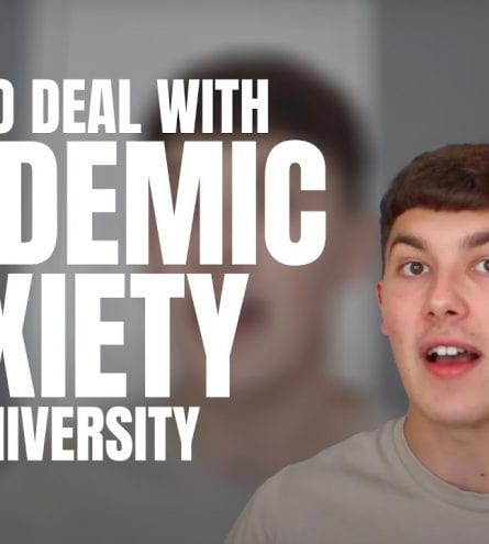 'Hot to deal with pandemic anxiety at university' thumbnail text