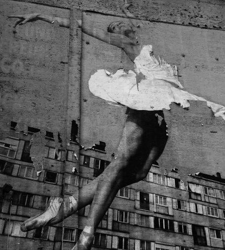 Graffiti art of a ballerina