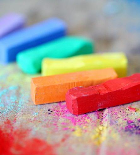 Rainbow chalks