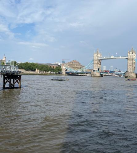 Panoramic photo of Tower Bridge