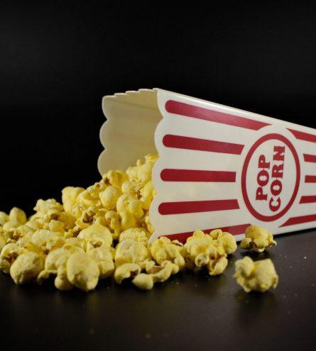 Popcorn carton spilt over