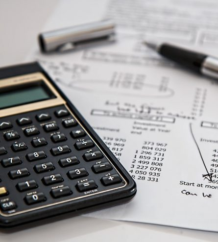 Working out budgets using bills and a calculator