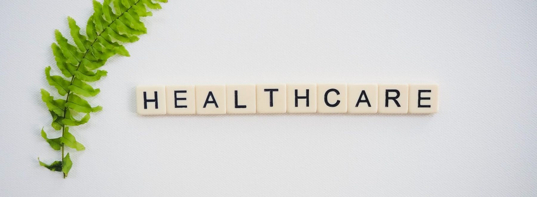 'HEALTHCARE' spelt out in scrabble letters