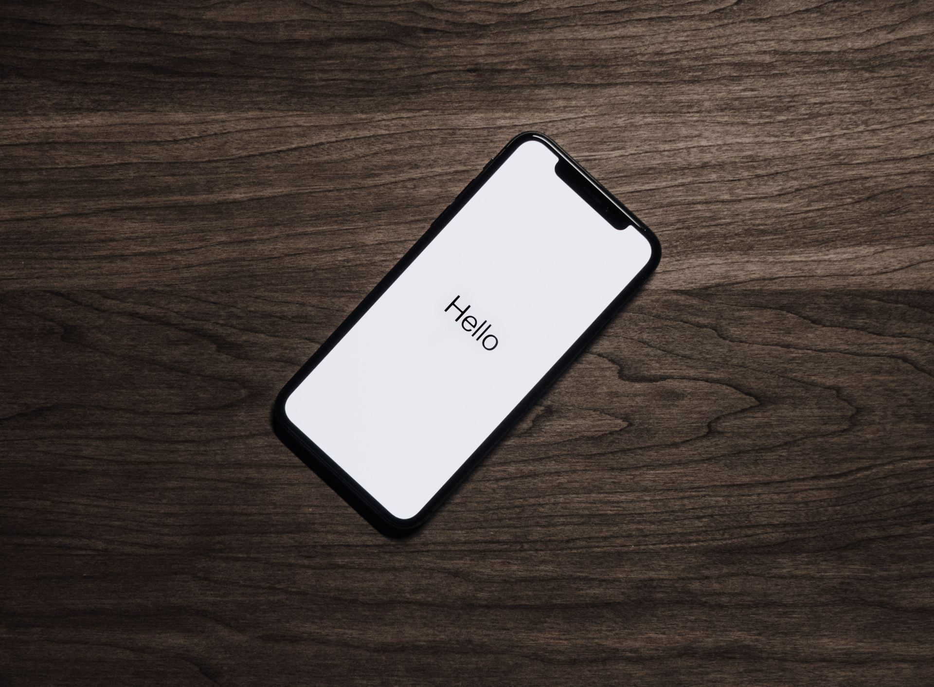 'Hello' iPhone welcome screen