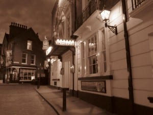 The entrance of the White Hart Hotel, Lincoln