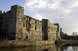 Newark Castle, shot from across the River Trent