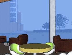 View from social area (Artist's impression)