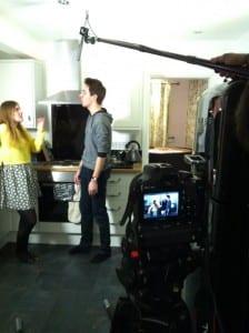 boom camera shot kitchen