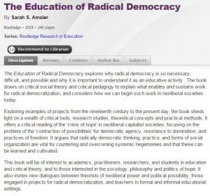 Education of Radical Democracy