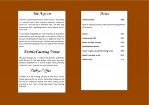 Figure 2 An example of one of our menu pages