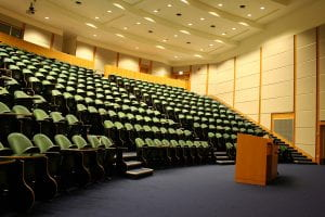 image of an empty lecture theatre