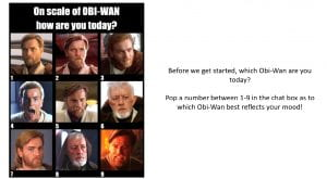 Scale of 1 to Obi Wan
