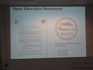 Blackboard and open education