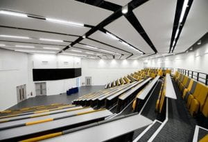 Lecture room in Isaac Newton building at University of Lincoln